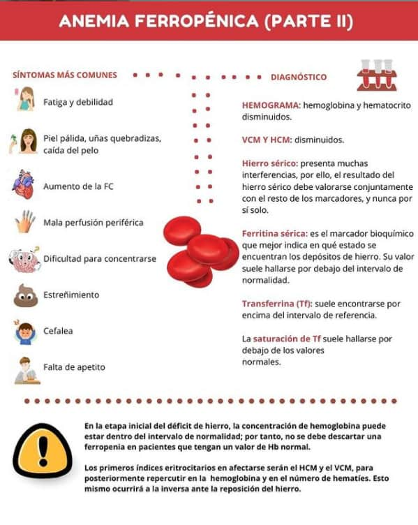ferritina baja diagnóstico